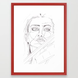 feeling the passion Framed Art Print