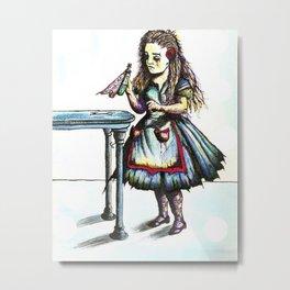 Alice Drink ME Metal Print