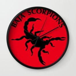 Baja Scorpions Wall Clock