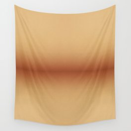 Orange beige colors gradient leather cloth Wall Tapestry