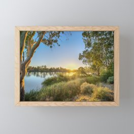 River Sunrise Framed Mini Art Print