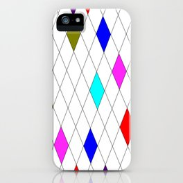 A Harlequin Design Like Stained Glass iPhone Case