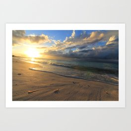Sunset at Turks and Caicos Islands Art Print