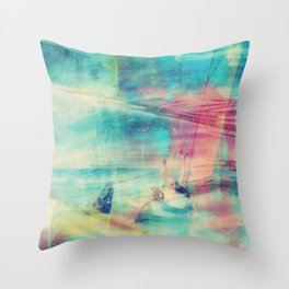 Edward Hopper Graffiti Throw Pillow
