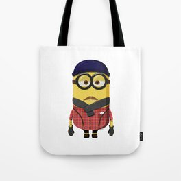 Hipster Minion Tote Bag
