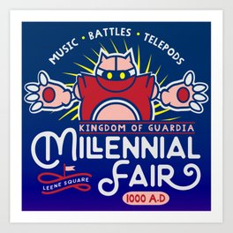 Gamer Geeky Chic Chrono Trigger Inspired Millennial Fair Videogame Fun Art Print