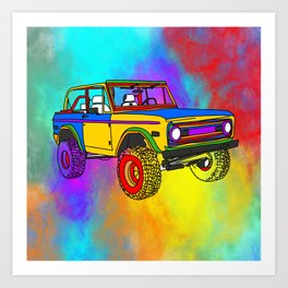 Rainbow Sour Truck Art Print