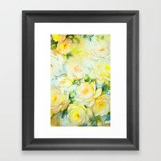 Shabby Chic Yellow Framed Art Print