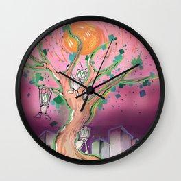 Digital Leaves Wall Clock