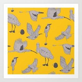 the BYrdZ: canary Art Print