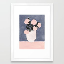 Posy Blue Framed Art Print