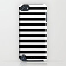 Modern Black White Stripes Monochrome Pattern Slim Case iPod touch