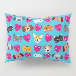 Cat Loves Dog Loves Cat Pillow Sham