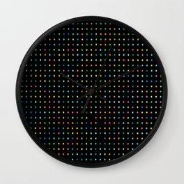 Neon Preppy Print Wall Clock