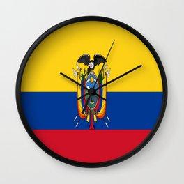 Flag of Ecuador -ecuadorian,Inca,Kichwa,Quito,america, South america,Spanish,Amazonia,latin america Wall Clock