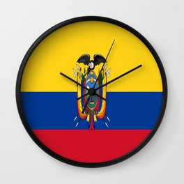 Flag of Ecuador -ecuadorian,Inca,Kichwa,Quito,america, South america,Spanish,Amazonia,latin america Wall Clock