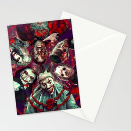 Twisty Jigsaw Jason Voorhees Terminator Psychedelic Spook Show Stationery Cards