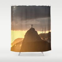 rio Shower Curtains featuring Rio by miloezger