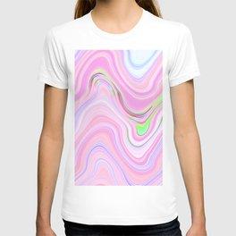 Pastel Pink & Violet Lava Marble T-shirt