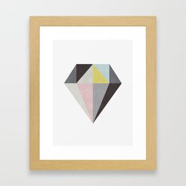 Polygon geometry II Framed Art Print