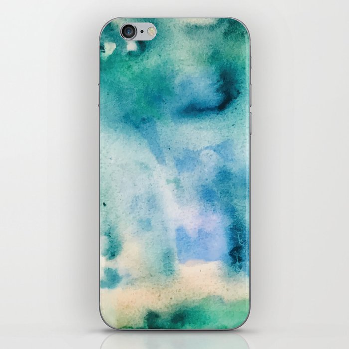 Watercolor abstract many color no.16 iPhone Skin