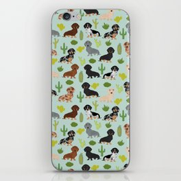 Dachshund cactus southwest dog breed gifts must have doxie dachsies iPhone Skin