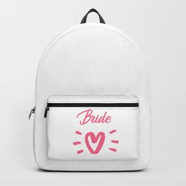 Bride To Be Pink Pulsating Heart Design Backpack