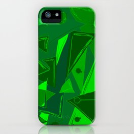 Cages at the Border Green #Abstract #Geometric #PoliticalArt iPhone Case