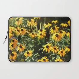 Black-eyed Susan Yellow Flowers Laptop Sleeve