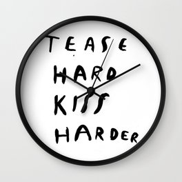 WORK HARD, PLAY HARDER Wall Clock