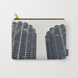 Chicago Architecture, Marina City, Chicago Wall Art, Chicago Art, Chicago Photography, Canvas Art Carry-All Pouch