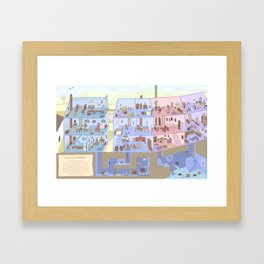 Village Homes Maze Framed Art Print