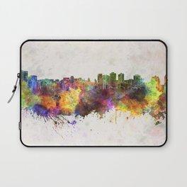 Halifax skyline in watercolor background Laptop Sleeve