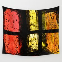 stained glass Wall Tapestries featuring Stained glass by Pirmin Nohr