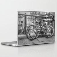bikes Laptop & iPad Skins featuring Bikes by Kyla Steeves