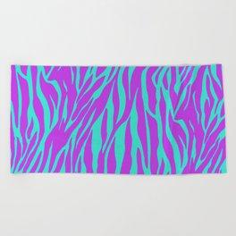 Purple and Green Zebra print Beach Towel
