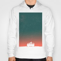 vw Hoodies featuring Quiet Night - starry sky by Picomodi