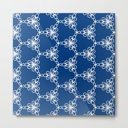 Pattern lace vector Metal Print