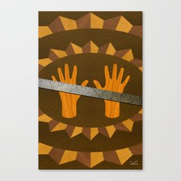 The Intelligence Rule - (ASL Marquetry Series) Canvas Print