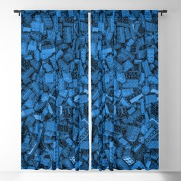 Master builder Blue Blackout Curtain