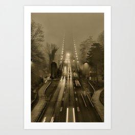 Lions Gate in the Fog 02 Art Print