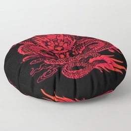 Epic Dragon Red Floor Pillow