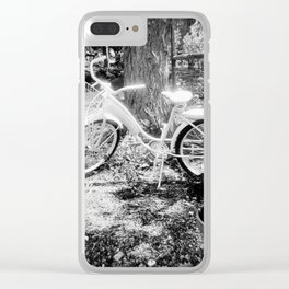 Vintage Bicycle Clear iPhone Case