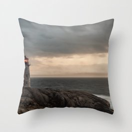 Peeling Lighthouse Throw Pillow