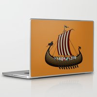 vikings Laptop & iPad Skins featuring Vikings by mangulica illustrations