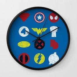 Super Simple Heroes Wall Clock