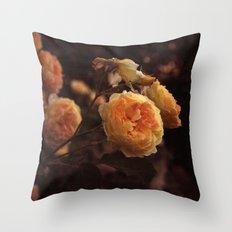 The Golden Rose Throw Pillow