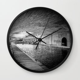 Into the river Wall Clock