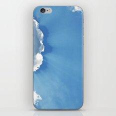 Sun rays behind Clouds iPhone Skin