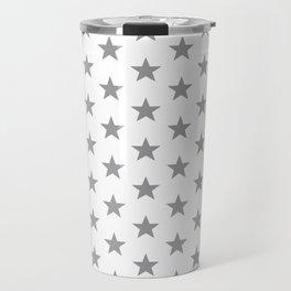 Superstars Gray on White Medium Travel Mug
